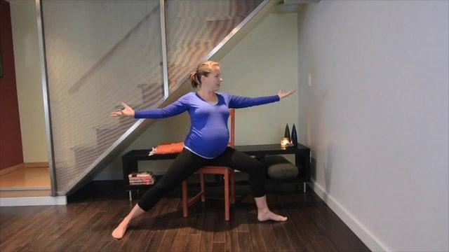 Prenatal Yoga Chair Practice 10 min.