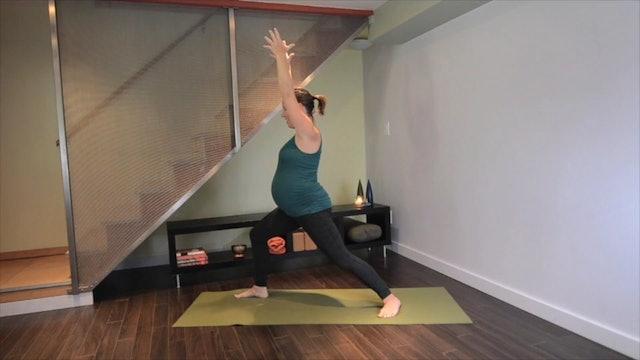 Prenatal Yoga Leg Strengthening 11 min