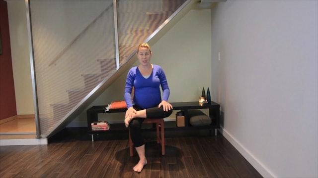 Prenatal Yoga Chair Practice 4 min.