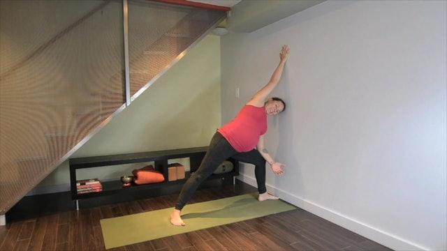 Prenatal Yoga Wall Practice 10 min