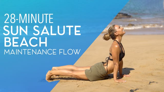 Sun Salute Maintenance Flow at the Beach