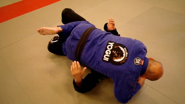 Gi-half-guard-back-step-pass