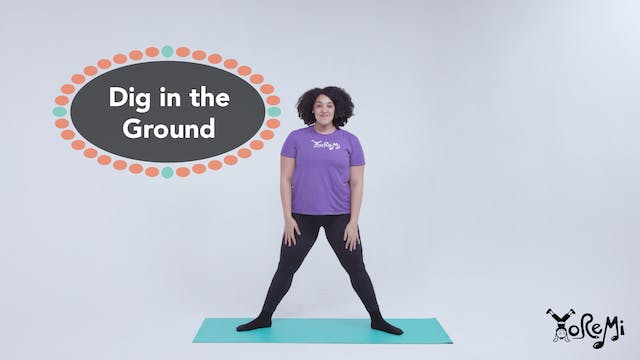 Dig In The Ground (Goddess Pose)