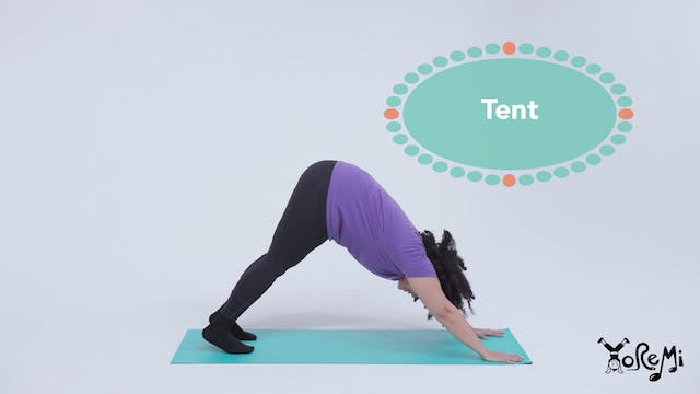 Tent (Downward Facing Dog Pose)