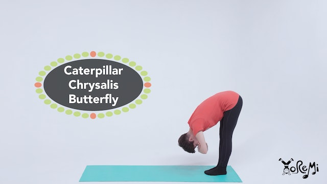 Caterpillar, Chrysalis, Butterfly (Kids Yoga Flow)