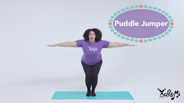 Puddle Jumper (Chair Pose & Toe Balance)