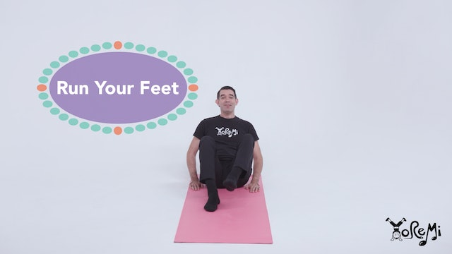 Run Your Feet (Boat Pose)