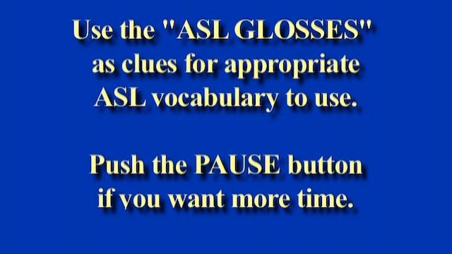 6B-1 ASL Sentence Pre-Test