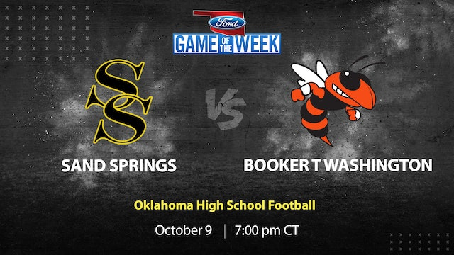Booker T. Washington Cruises Past Sand Springs