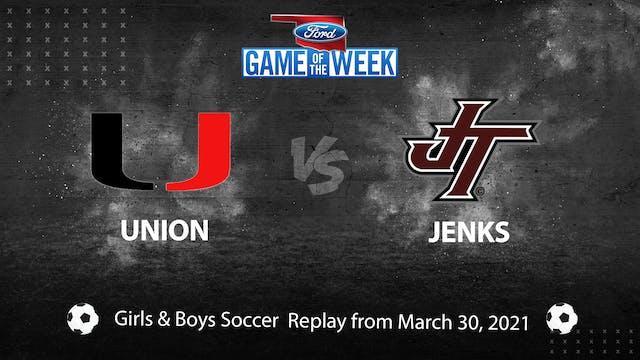 Buy: Jenks vs. Union Girls & Boys Soccer
