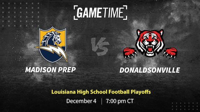 Madison Prep Tops Donaldsonville in F...