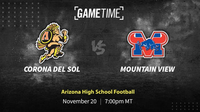 Rent: Corona del Sol Undefeated vs. Mountain View