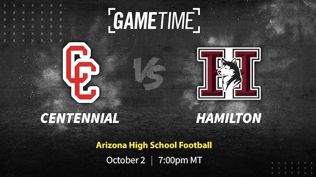 Colorado Transplants lead Hamilton in Shutout Over Centennial