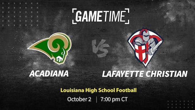 Rent: Acadiana Defense Stifles Lafayette Christian