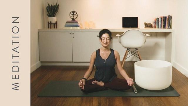 Grounding Calm Down Meditation & Crystal Bowls (20 min) — with Hillary Keegan