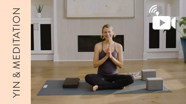 Live Replay: Yin & Meditation for Anxiety (60 min) - with Lisa Sanson