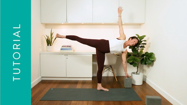 Tutorial: How to Do Half Moon Pose (10 min) — with Katherine Moore