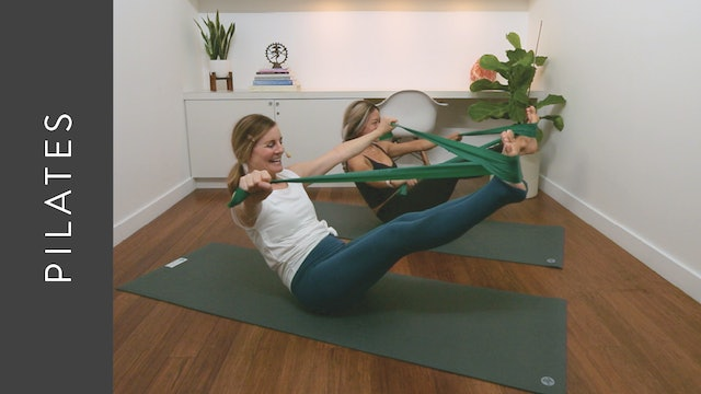 Mat Pilates: Intermediate with Resistance Bands (30 min) — with Kelly Colleen