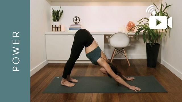 Live Stream Power Yoga (60 min) - with Krystina Simes