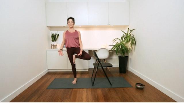 Office Hatha Yoga (20 min) — with Hillary Keegan