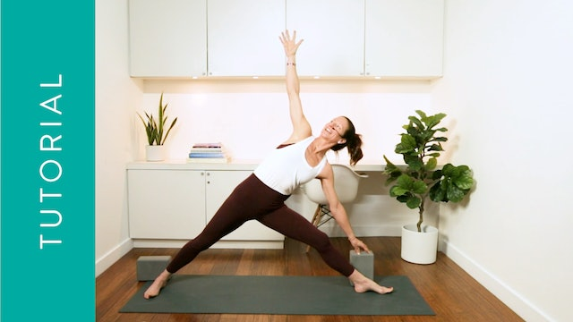 Tutorial: Triangle Pose (10 min) — with Katherine Moore