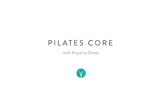 Pilates Core Burner (18 min) - with Krystina Simes