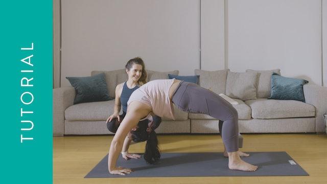Tutorial: How to do Wheel Pose (5 min) — with Christie Baumgartner