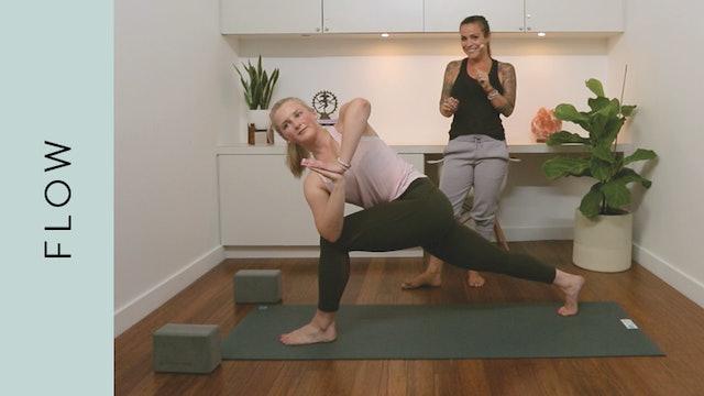 Flow Yoga: Fiery Morning Practice (20 min) — with Crystal Rainbow Borrelli