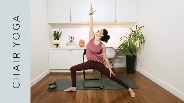 Chair Hatha Yoga (20 min) — with Hillary Keegan