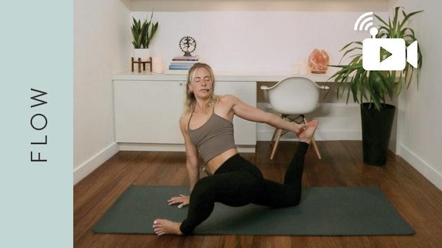 Live Stream Fiery Flow Yoga (60 min) - with Mikaela Millington