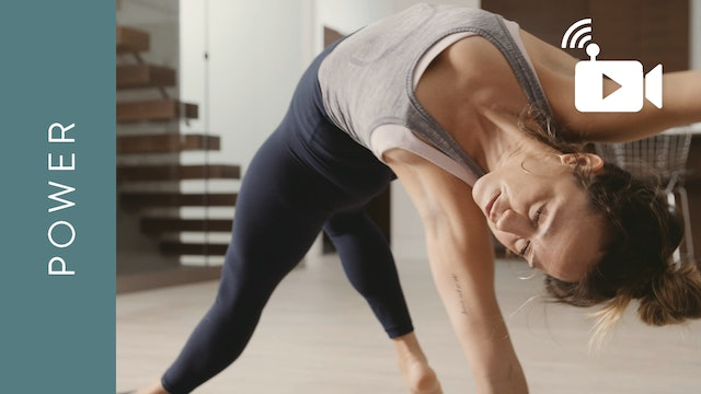 Live Replay: Grounded Power Yoga (60 min) - with Mari Dickey