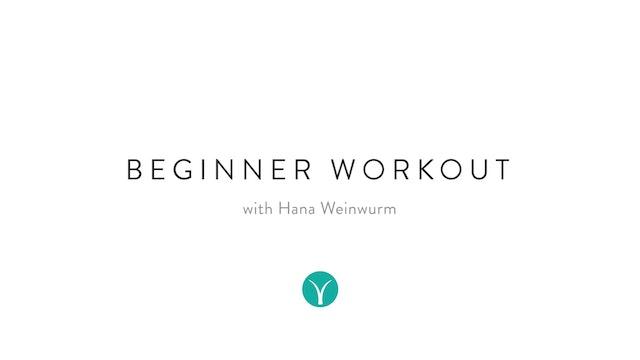 Beginner Workout (20 min) - with Hana Weinwurm
