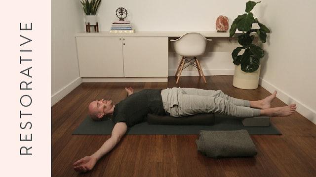Midday Restorative Yoga (20 min) –with Mark Atherton