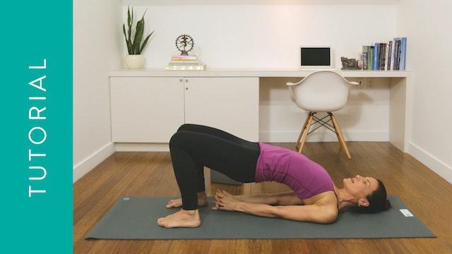Tutorial: How to do Bridge Pose (10 min) — with Jasmina Egeler