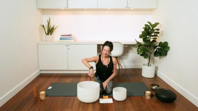 Good Vibrations Hatha & Soundbowls (50 min) - with Hillary Keegan