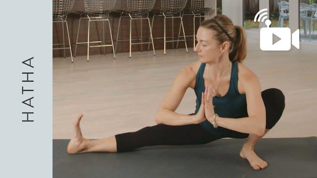 Live Replay: Balanced Hatha Yoga (55 ...