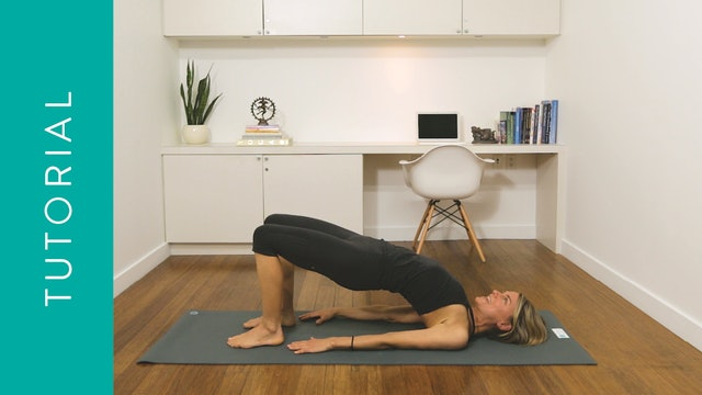 Tutorial: How to do Bridge Pose — with Lisa Sanson