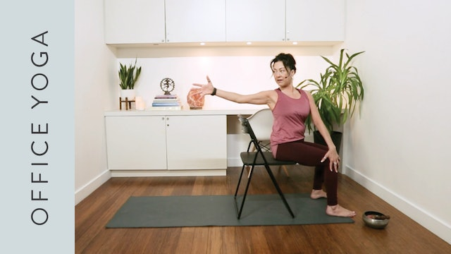 Office Hatha Yoga (20 min) — with Hillary Keegan