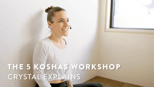 Crystal explains The Five Koshas Workshop