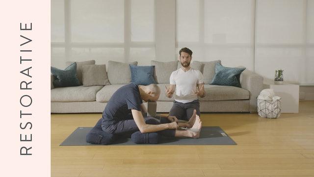 Restorative Yoga (20 min) — with Juan Villegas