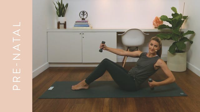 Pre-natal Pilates for Cardio & Core (30 min) — with Heather Obre (McEwen)