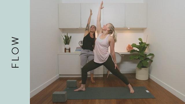Flow Yoga: Mid-Day Rejuvenating Class (20 min) — with Crystal Rainbow Borrelli