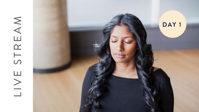 Day 1 of 7 Day Sleep Meditation Challenge (45 min) — with Farzana