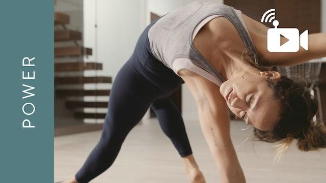 Live Stream Power Yoga (75 min) - with Mari Dickey