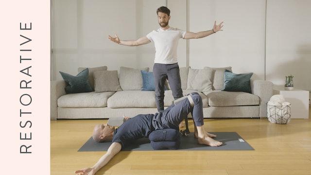 Restorative Yoga for Stress (5 min) — with Juan Villegas