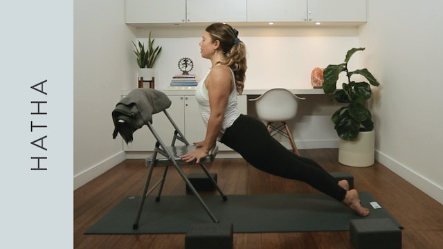 Hatha Chair Yoga for the Office/ Airplane (10 min) — with Kate Gillespie