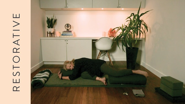 Restorative Yoga for Emotional Distress (50 min) – with Annabel Kershaw