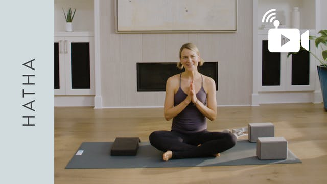 Live Stream Hatha Yoga (60 min) - wit...