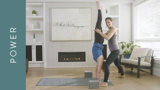 Power Yoga Intermediate: Handstand Prep (60 min) — Jasmina Egeler