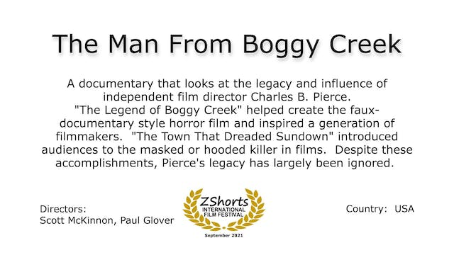 The Man From Boggy Creek Intro 2109